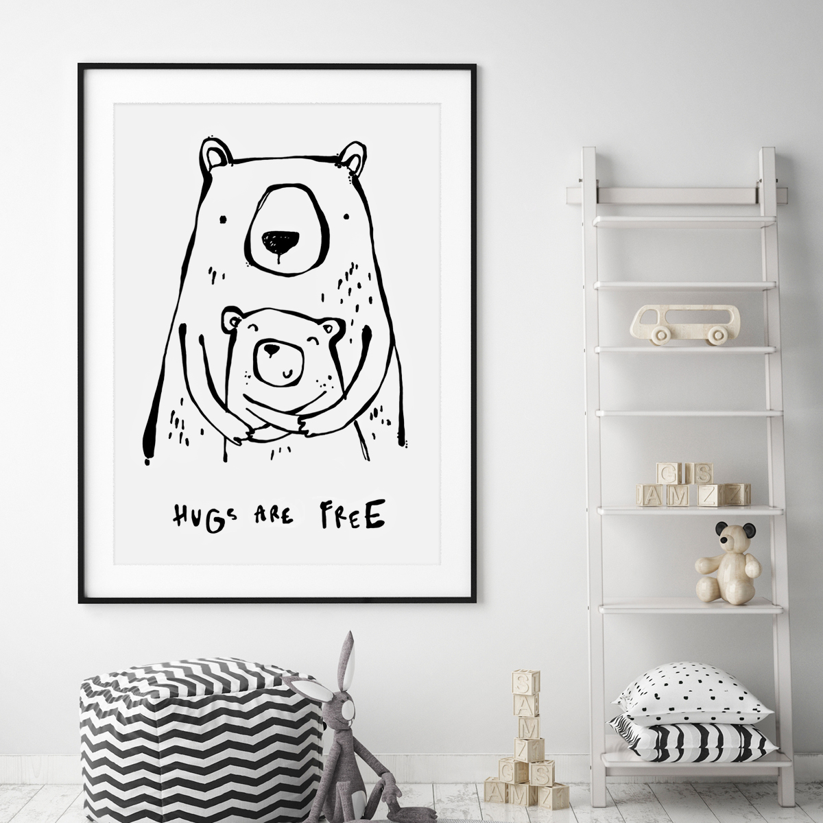 Huga are free bear framed