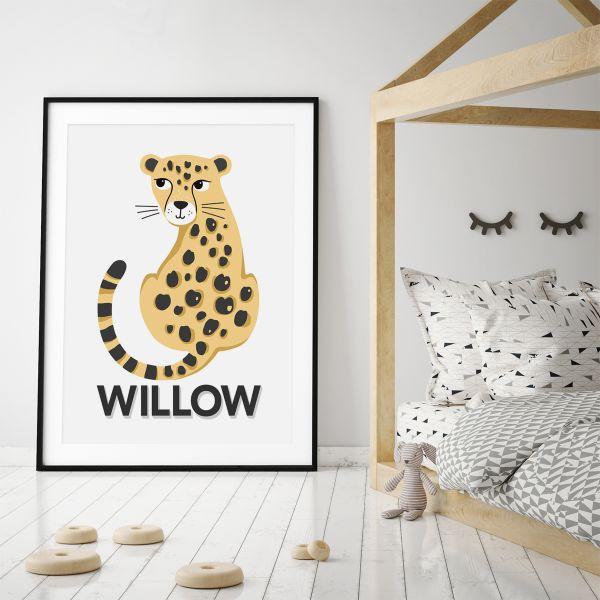 Leopard natural framed 2