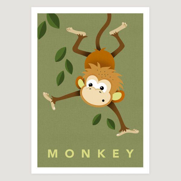 Monkey khaki small text