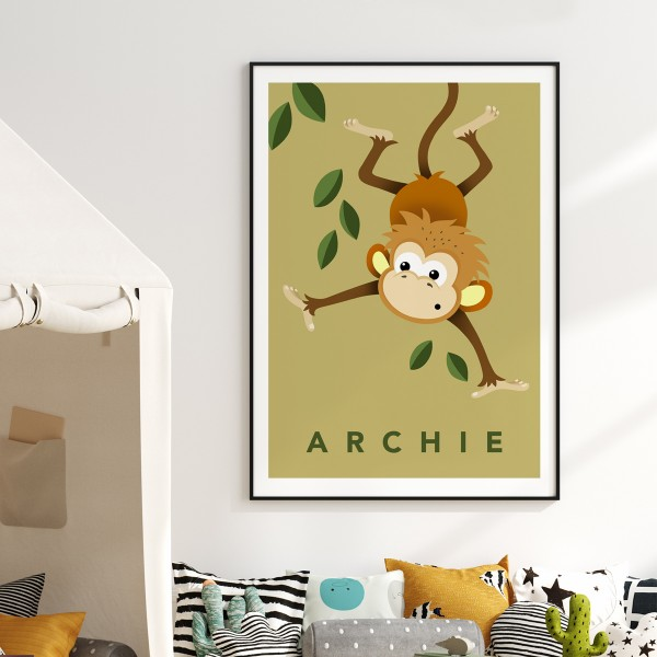 Monkey mustard framed