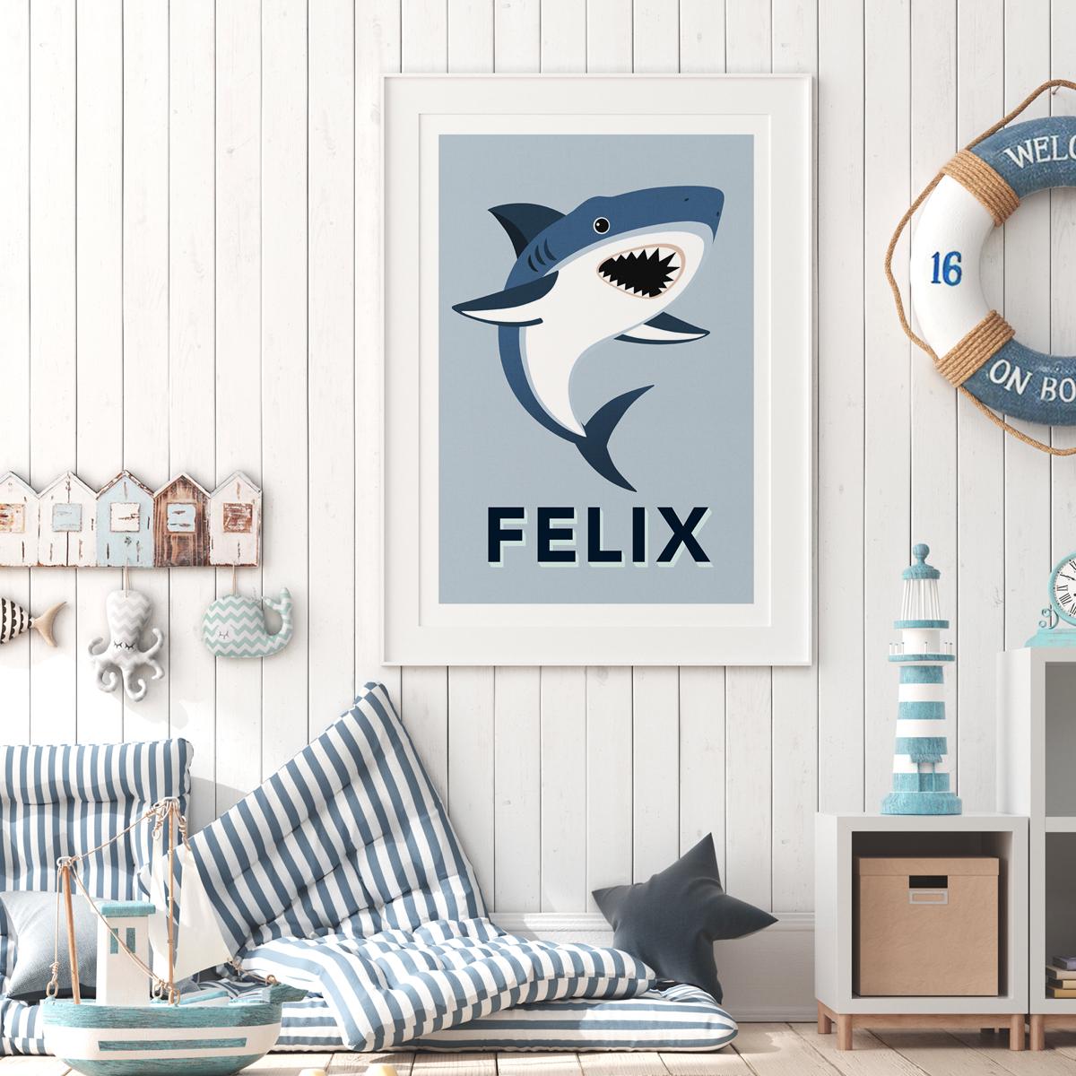 Shark Framed aqua