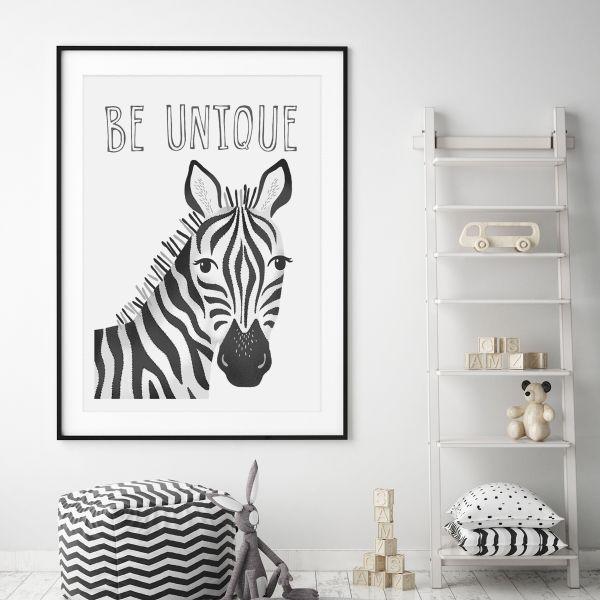 Zebra mono framed