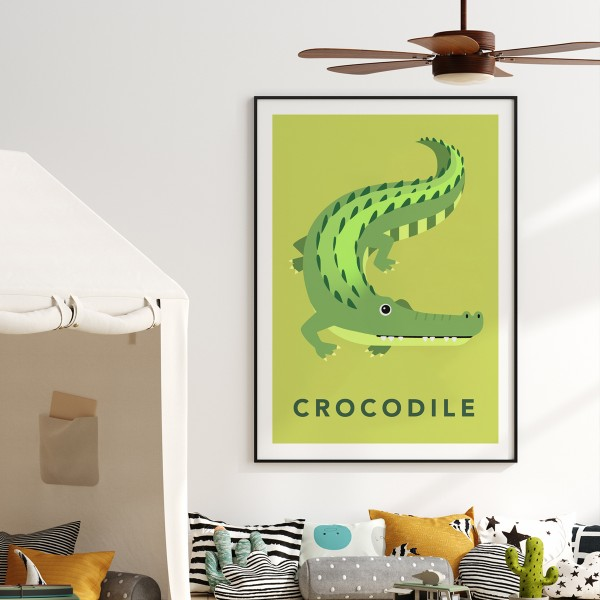 Croc lime framed