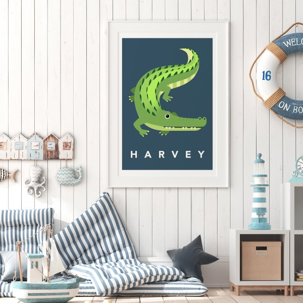 Croc navy framed