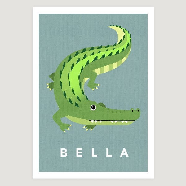 Croc teal small text