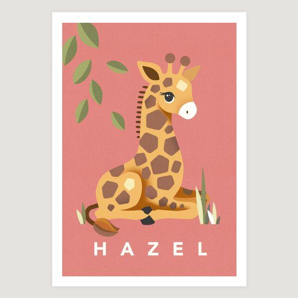 Giraffe coral pink