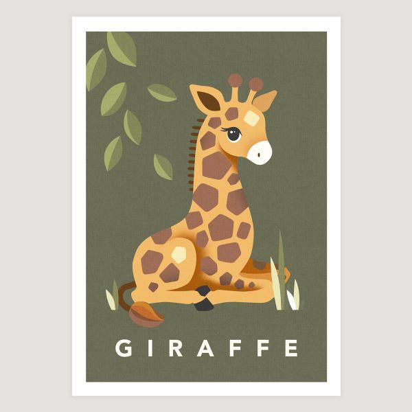 Giraffe khaki green