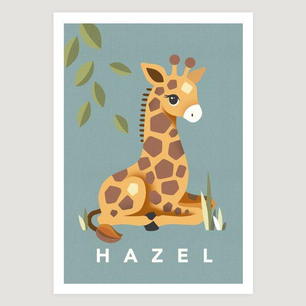 Giraffe teal