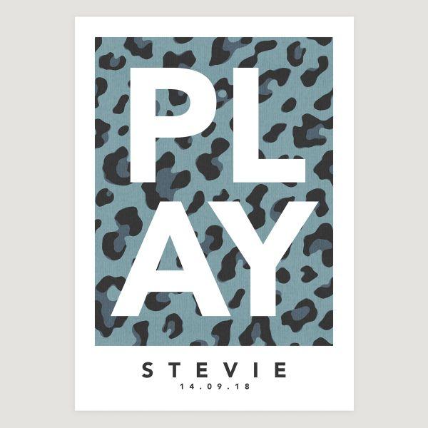 Play leopard blue