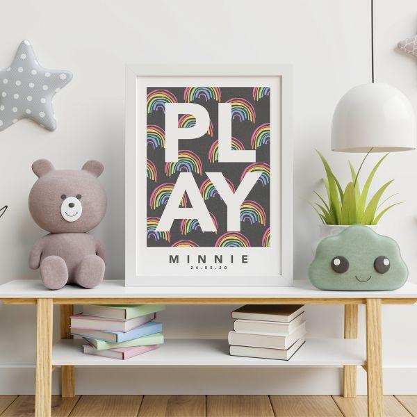 Play rainbow framed 2