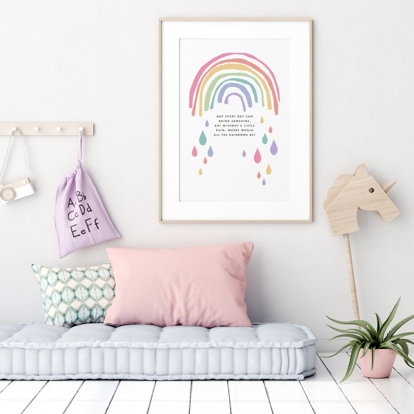 Rainbow scandi framed 2