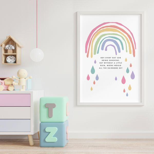 Rainbow scandi framed