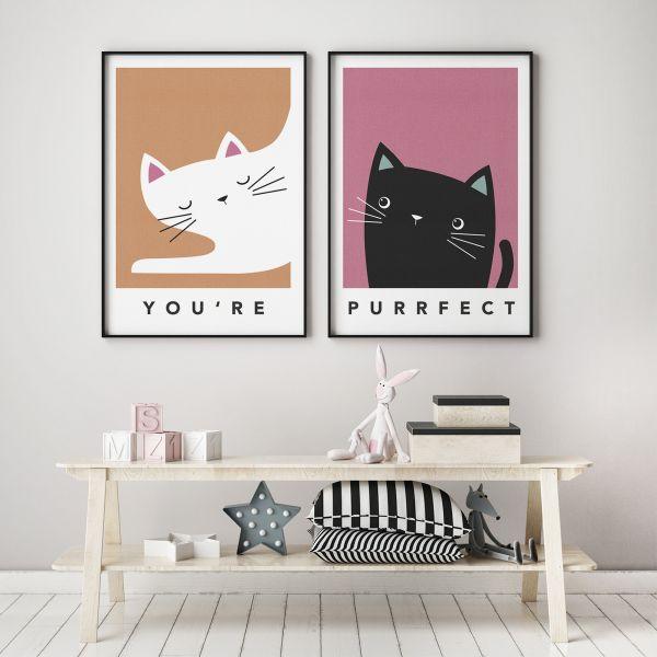cat pair framed 2