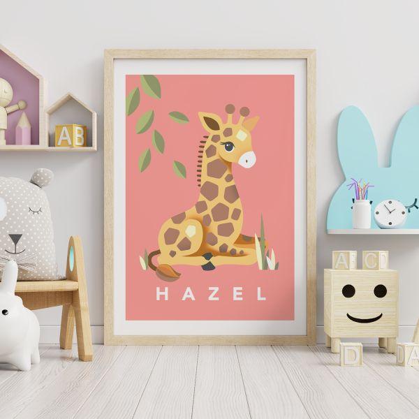 giraffe coral framed