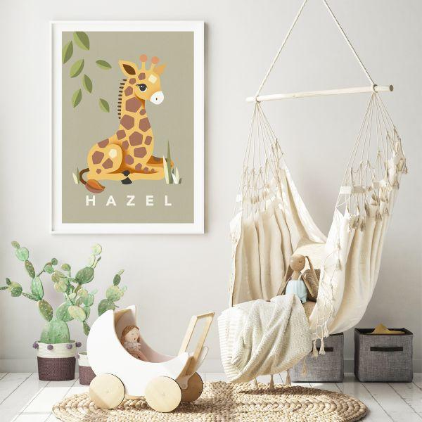 giraffe sage framed
