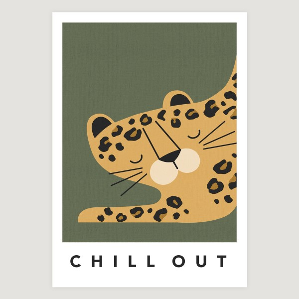 leopard khaki