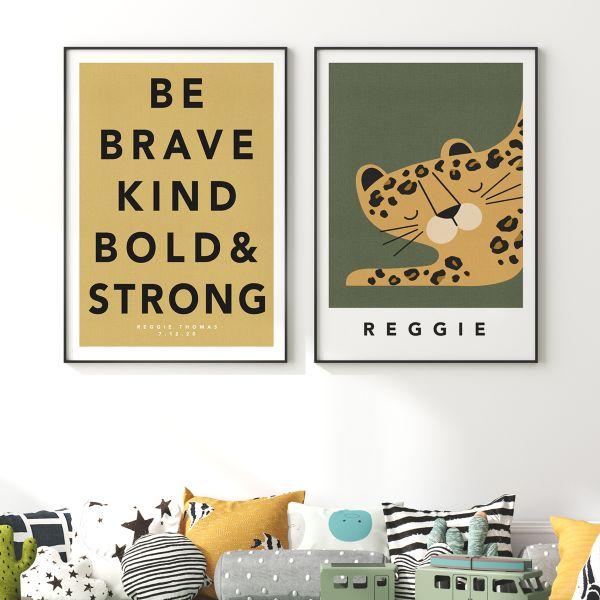 leopard pair framed